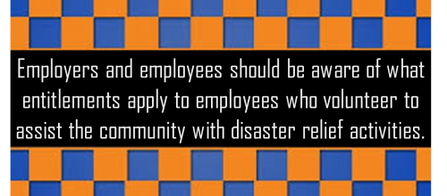 What entitlements apply to employees who volunteer to assist the community?